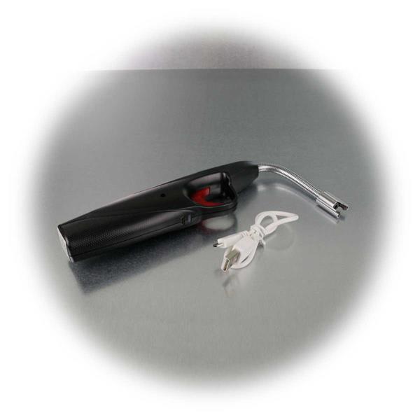 Lichtbogen Feuerzeug mit USB Kabel zum Aufladen des Akkus
