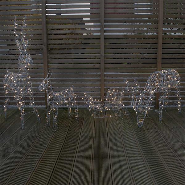 Weihnachtsdekoration mit LED Drahtlichterkette, für den Außenbereich