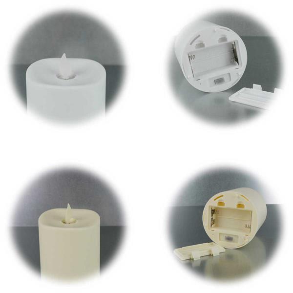 batteriebetriebene LED Kerze für Innen und Außen mit Timerfunktion