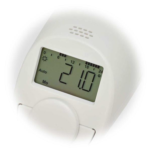intelligenter und programmierbarer Thermostat für handelsüblichen Heizungsventile