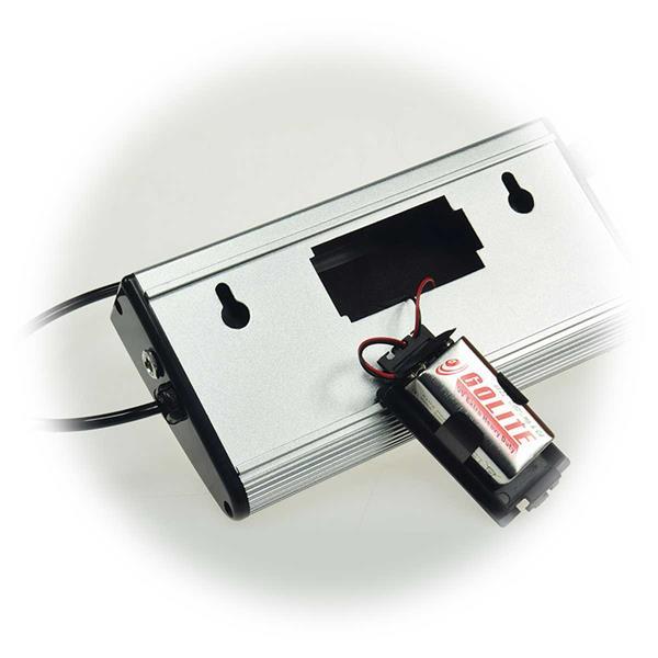 Anzeigeeinheit mit Batteriebetrieb oder Netzteil