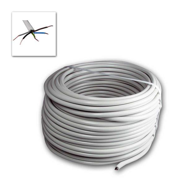 50m Stromleitung NYM-J, isoliert 5G1,5, grau