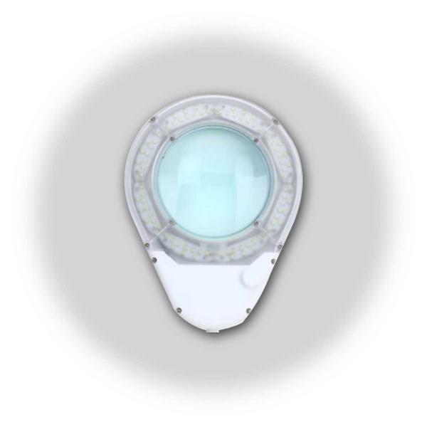 praktische Klemmlupe mit LED Ringbeleuchtung und Doppel-Gelenkarm