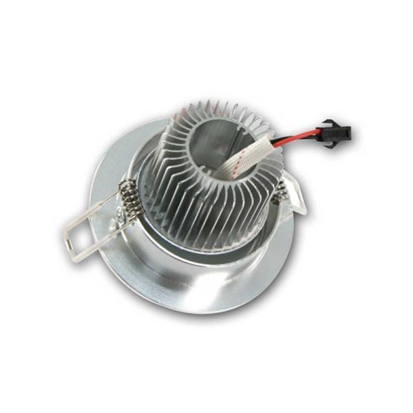 schwenkbare LED Alu-Einbauleuchte mit Kühlrippen, rund