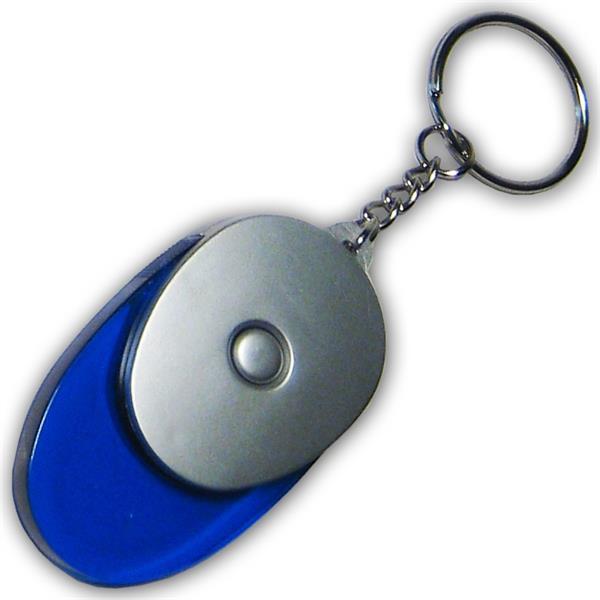 LED Acryl Schlüsselleuchte blau mit weißer LED