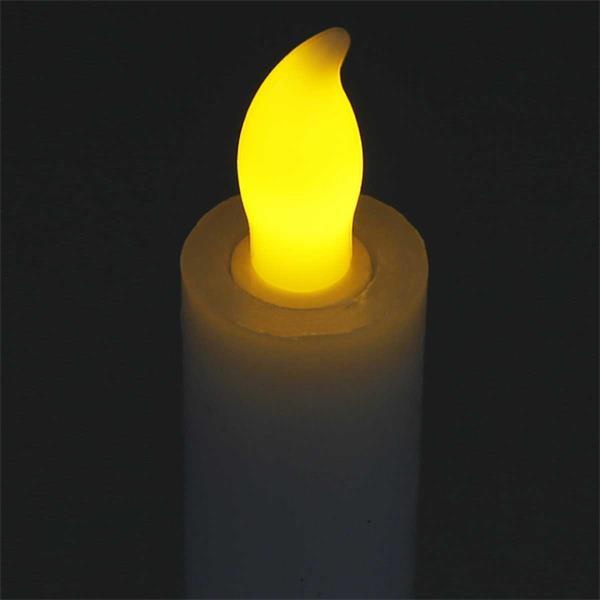 LED Stabkerze aus Echtwachs mit Flackereffekt und  6hTimer