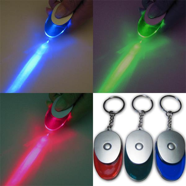 3er SET LED Acryl Schlüsselleuchten mit LEDs weiß