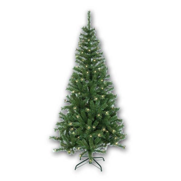 Grüner Weihnachtsbaum mit 150 warmweiß leuchtenden LEDs