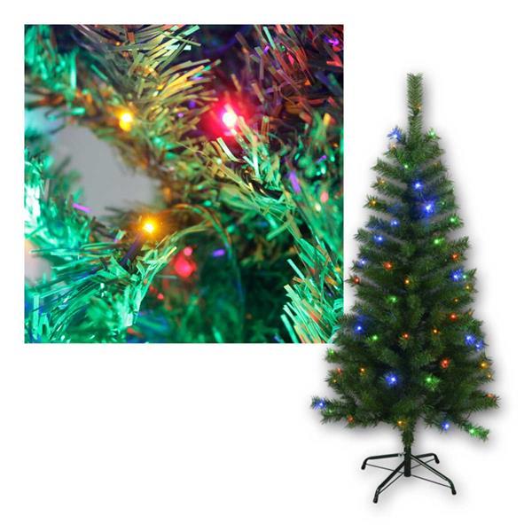 Weihnachtsbaum Kalix,1,5m, grün, 80 bunte LEDs