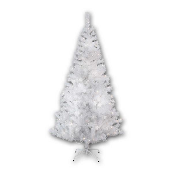 Weißer Weihnachtsbaum Kalix mit 150 warmweißen LED