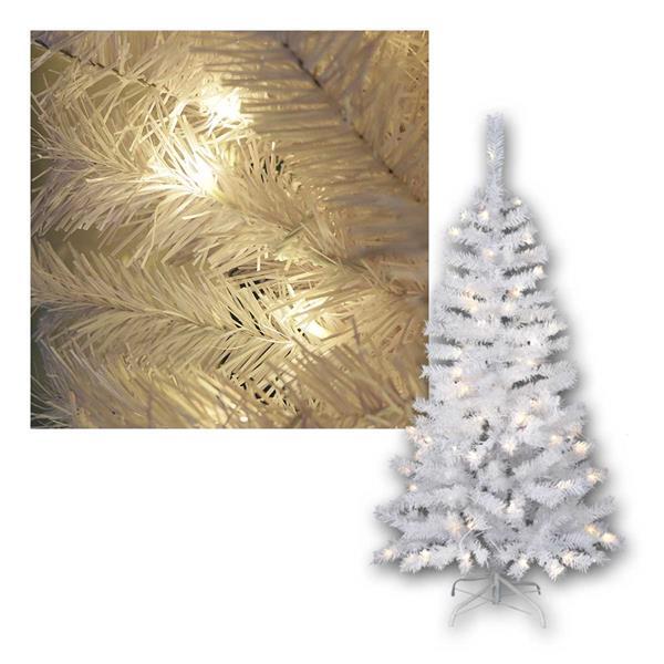 Weihnachtsbaum Kalix,1,5m, weiß, 80 LED warmweiß