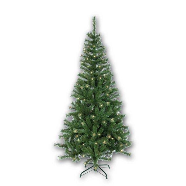1,95m hoher Weihnachtsbaum mit flackernden LEDs