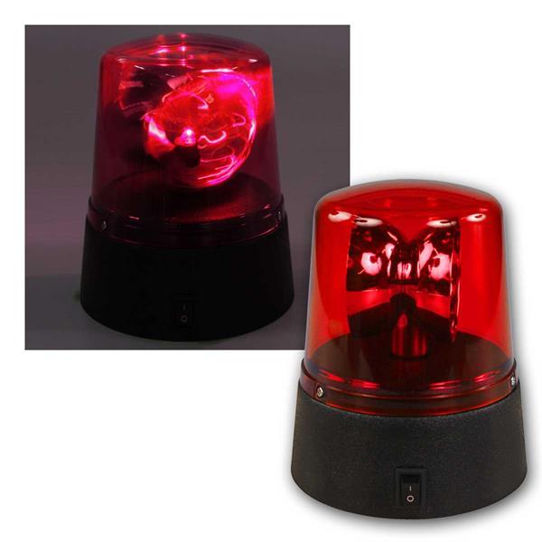LED Rundumleuchte, rot, Batterie betrieben