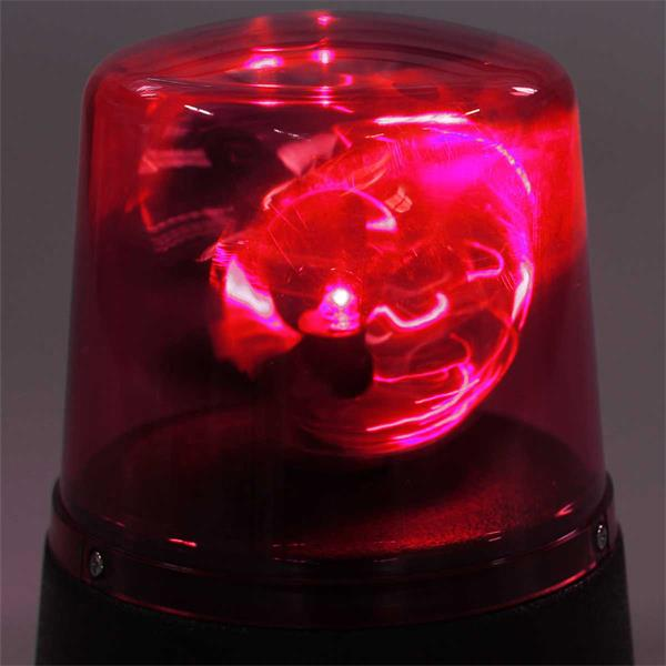 rote LED Mini-Rundumleuchte mit drehendem Reflektor