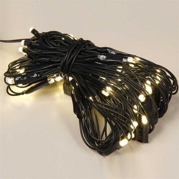 LED-Lichternetz mit 80 warmweißen LEDs für außen