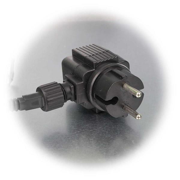 LED-Lichternetz für außen mit 230V-Stromversorgung