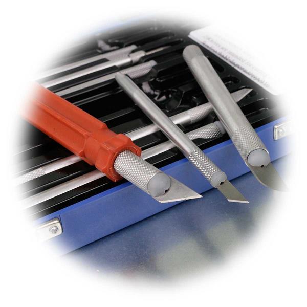 Messerhalter in verschiedenen Abmaßen mit geriffelter Grifffläche