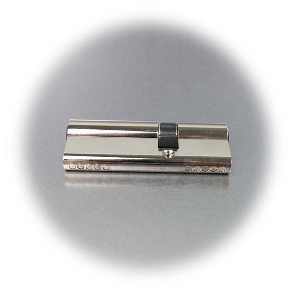 6-Stift-Profilzylinder aus massivem Messing, Nickel-beschichtet