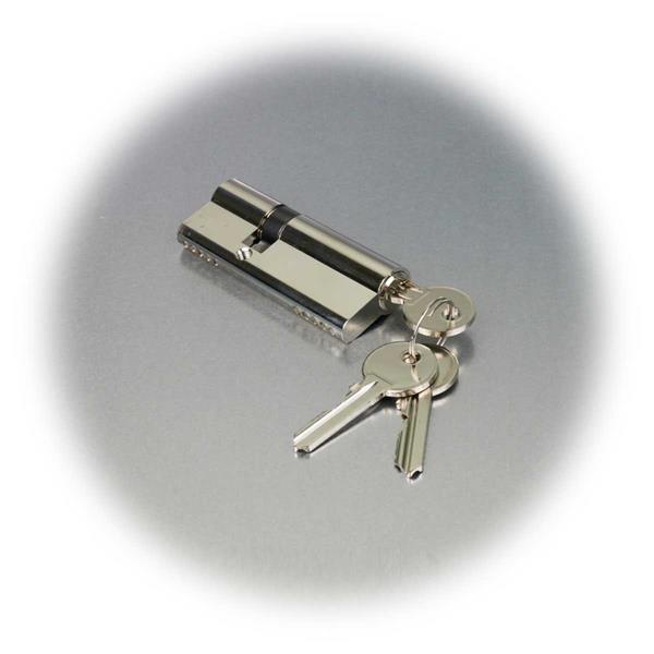 80mm langer Schließzylinder (50+30mm) mit Bartschlüsseln