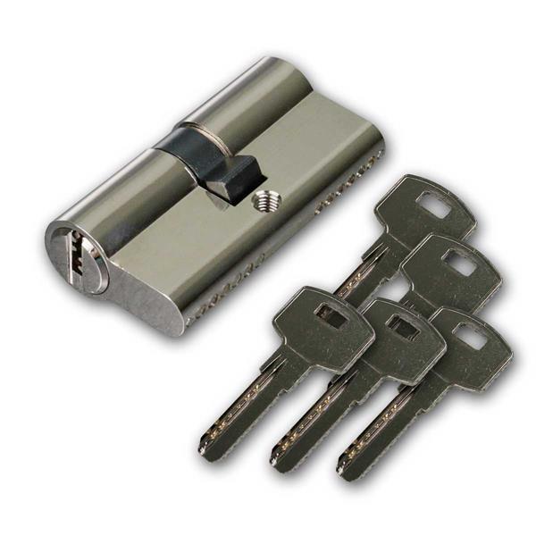 Schließzylinder 60mm (30+30mm), 5 Sicherhschlüssel