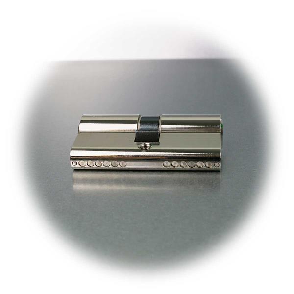 6-Stift-Profilzylinder aus massivem Messing