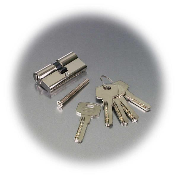 Profilzylinder mit 5 Sicherheitsschlüsseln und Befestigungsschraube