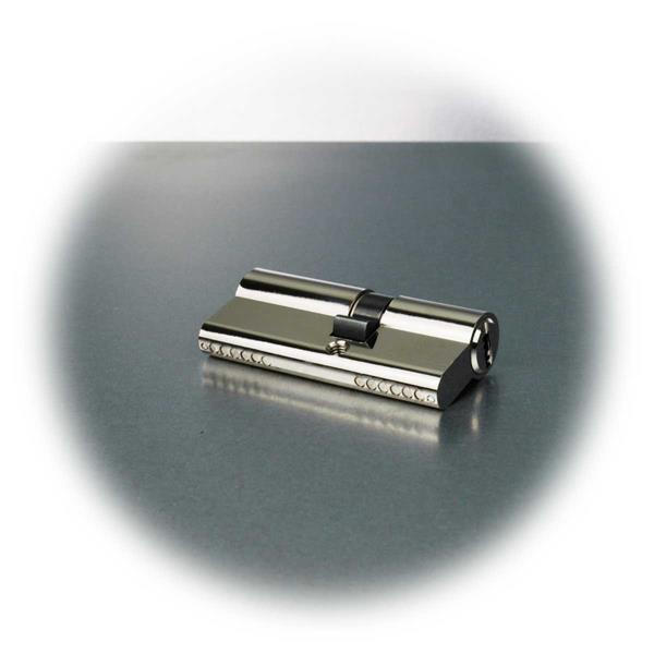 6-Stift-Doppelzylinder aus massivem Messing