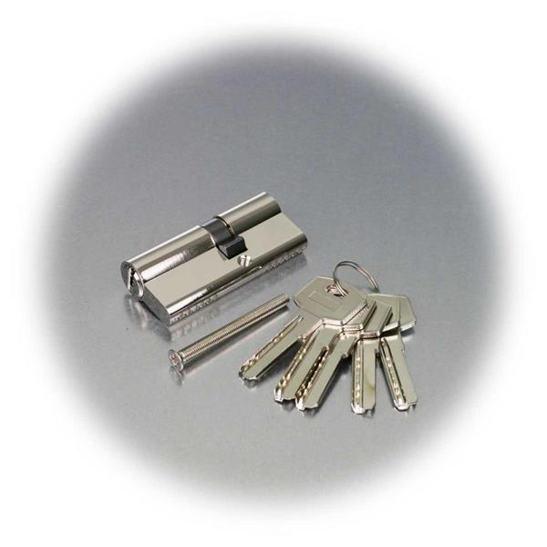 Profil-Schließzylinder inkl. Montageschraube und 5 Muldenschlüsseln