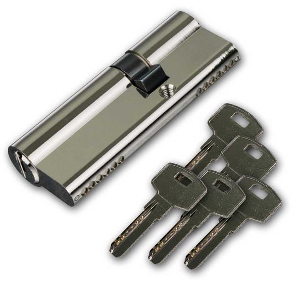 Schließzylinder 80mm (50+30mm), 5 Sicherhschlüssel