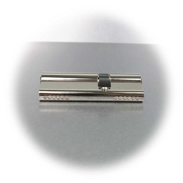 6-Stift-Zylinder aus massivem Messing mit Nickelbeschichtung