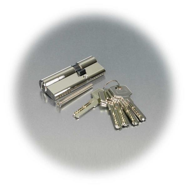 Profil-Schließzylinder mit 5 Sicherheitsschlüsseln und Schraube, 55mm