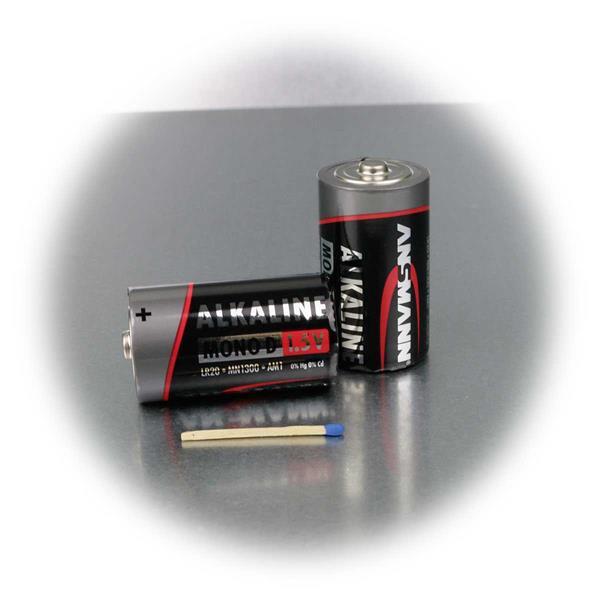 Mono Batterie D/LR20 mit 0% Kadmium und 0% Quecksilber