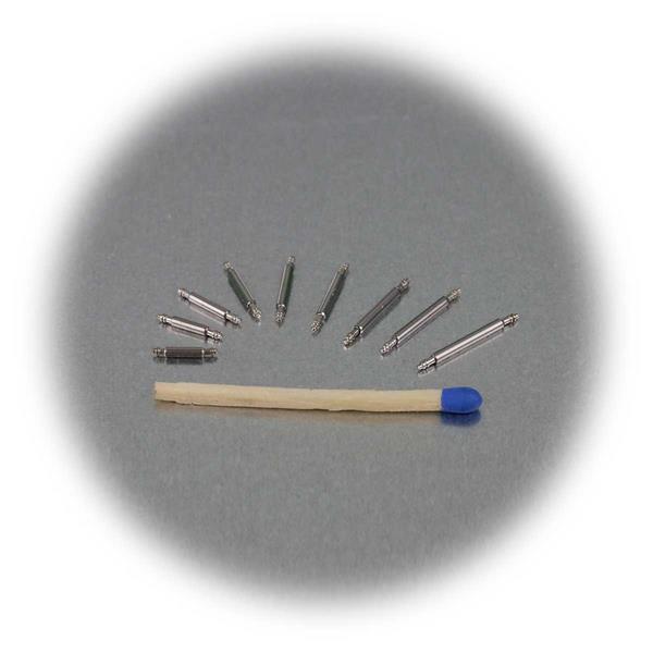 die gebräuchlichsten Federstege von 7 bis 15mm für Uhrenarmbänder
