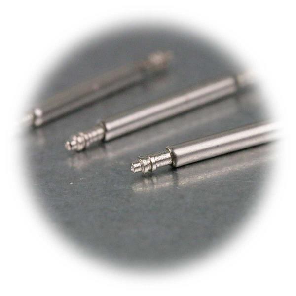 Stifte mit Durchmesser 1,5mm mit beidseitig angebrachten Federn