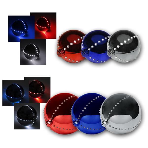 LED Deko-Kugel, rot/silber/blau, Ø 8/16cm