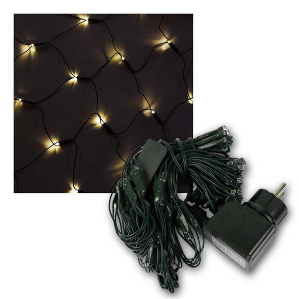 LED Lichternetze, 3 Größen LEDs, warmweiß, IP44, 230V