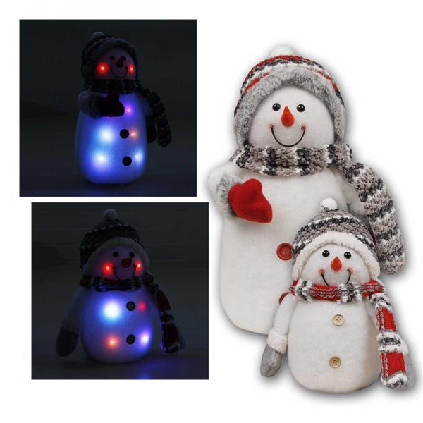 Schneemann mit LED-Beleuchtung, 2 Größen
