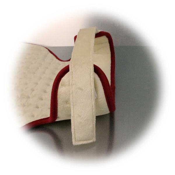 Heizkissen mit Klettverschluss am Hals für optimalen Sitz