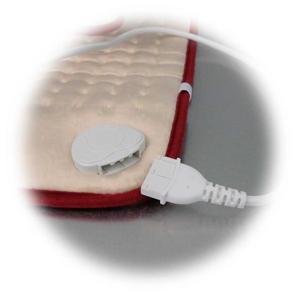 Nacken- und Rückenheizkissen mit abnehmbarer Anschlussleitung