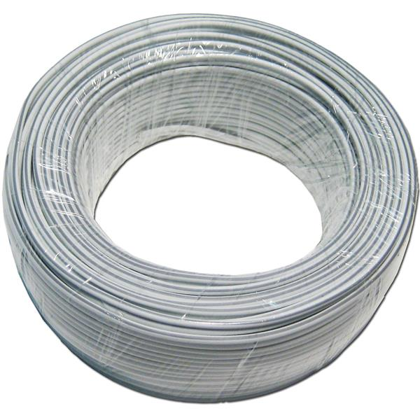 25m Zwillingslitze 2x 0,5mm² weiß/weiß-grau