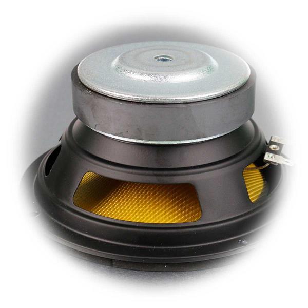Einbau-Subwoofer mit Stahlblechkorb und belüfteten Magnet