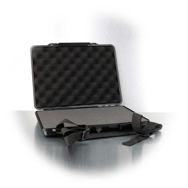 Staub-/Wasserdichter Gerätekoffer mit den Maßen 32,5x26x5cm