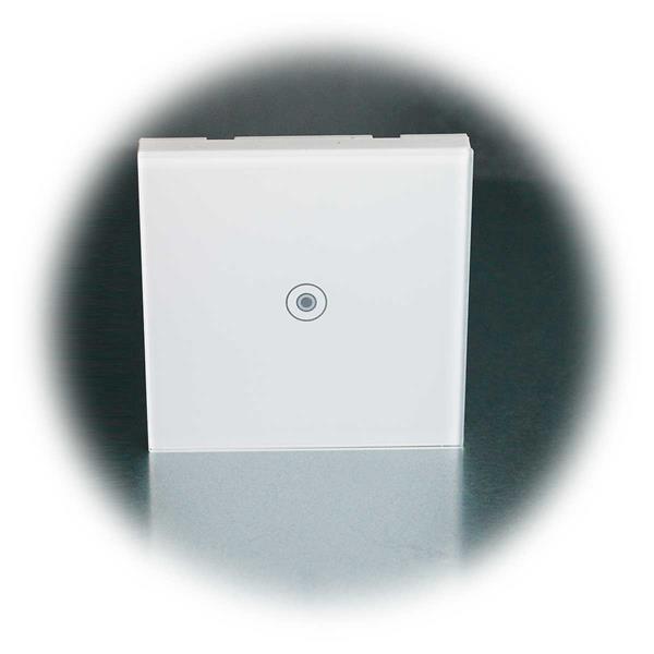Touchschaltr FLAIR mit Kontroll-LED und Glasoberfläche