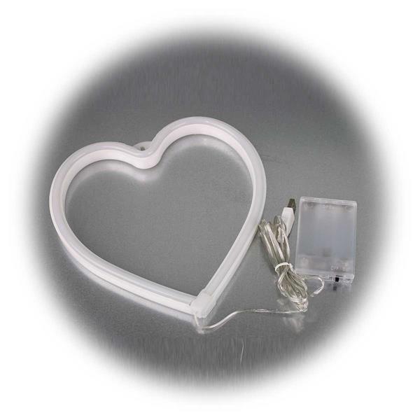 Batteriebetriebenes LED-Herz im Style der 50ies