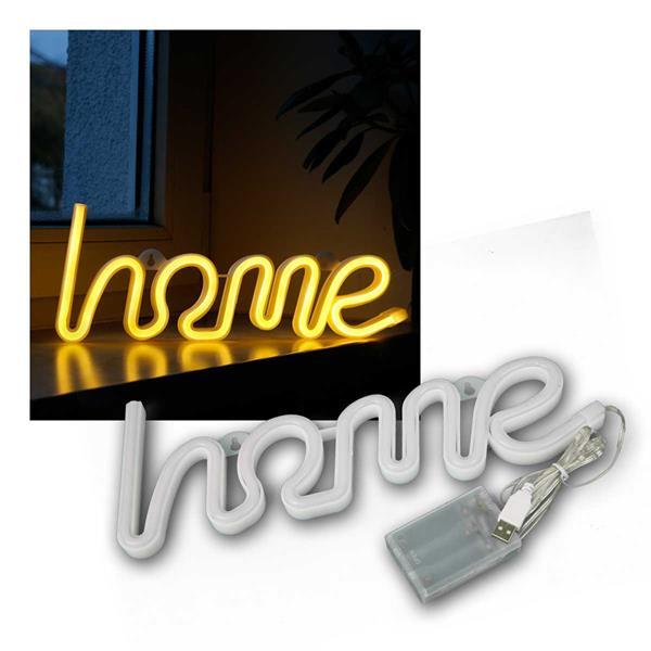 LED Figur HOME 355x130mm, warmweiß 3xAA, USB 5V