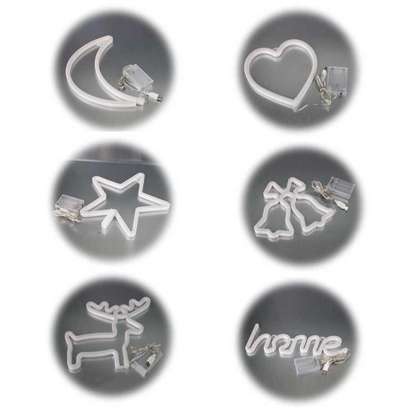 LED-Figuren im Retrostyle in 6 Motiven