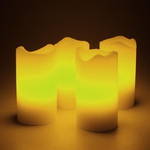 LED Adventskerzen mit Fernbedienung im 4er Set