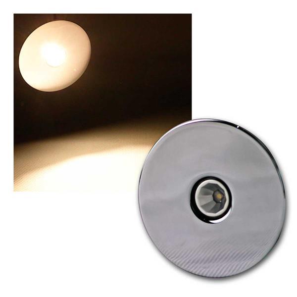 3W LED-Einbauleuchte Chrom,rund, Restposten ww/nw