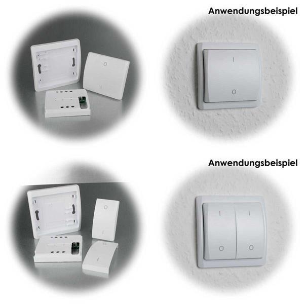 Funk-Lichtschalter arbeiten ohne Batterie und Stromanschluss
