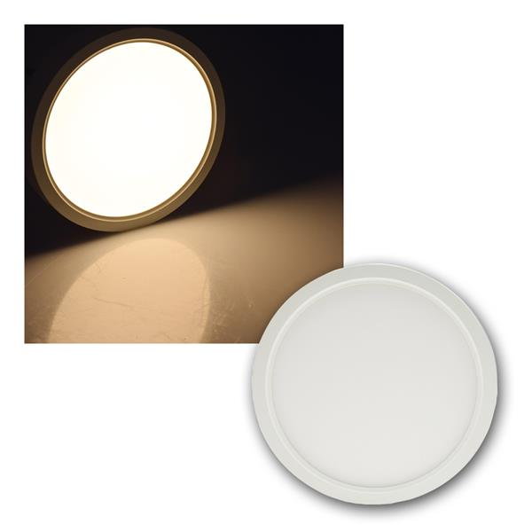 LED Deckenleuchte Santano 12W Ø17cm 940lm warmweiß